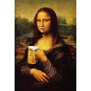 Placa - Quadro - Decorativo - Mona Lisa - Cerveja - (v321)