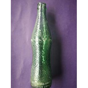 Antigua Botella Verde Bidu Cola Vacía