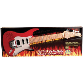 Guitarra Infantil Eletronica Ritmo Rock Dtc