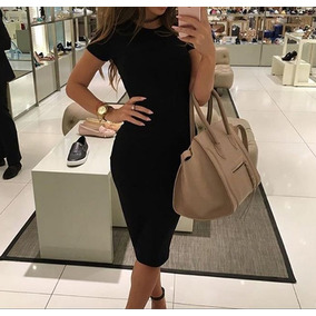 Bonito Vestido Negro Casual Elegante Barato Envio Gratis