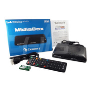 Receptor Digital Century Midiabox B4 Azul Hd Tv Midia Box B4