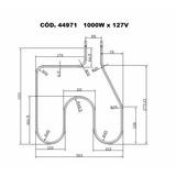 Resistência Elétrica Forno Elétrico Layr Onix 1000w X 127v