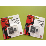 Tarjeta De Memoria Micro Sd Kingston Con Su Adaptador 2 Gb
