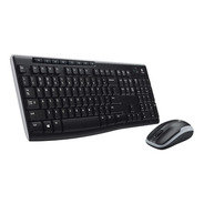 Teclado + Mouse Inalambrico - Español - Logitech Mk270
