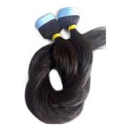 Cabelo Humano Castanho Fita Adesiva 150g 70cm Mega Hair