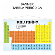 Banner Tabela Periódica - Tamanho 1,5 Metros X 95cm