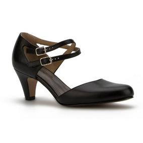 Zapatos Dama Negro Andrea 2314303 Piel Tacón Bajo Correas