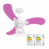 Ventilador New Baby Colors Fem. 3 Pás Rosas 43 3107