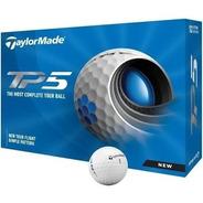Pelotas Taylormade Tp5 12 Pelotas + Tubo De 3 Golflab