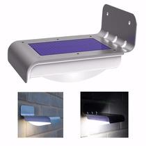 Luminária Parede Solar 16 Leds Sensor - Frete Grátis