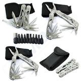 Alicate Canivete Tático Aço Inox Multiuso 21 Funções 16cm