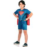 Fantasia Superman Infantil C/ Músculos Batman Vs Superman