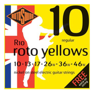 Encordado Guitarra Rotosound .010 Roto Yellows Regular R10