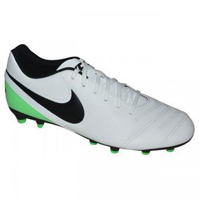 0cc73432b0 Chuteira Nike Tiempo Campo Profissional Verde - Chuteiras Branco no ...