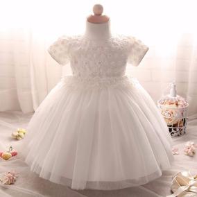 Hermoso Vestido Blanco Ivory Tutu Princesa Bautizo Envio Gra