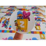 Sticker Candy Bar Personalizado Pocoyo Spiderman Piñon Fijo