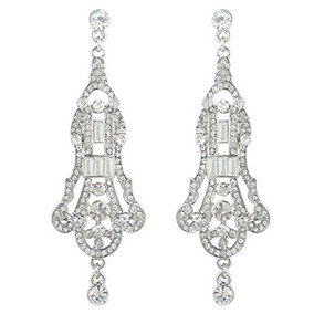 76090760fea8 Ever Faith Cristal Austriaco Art Deco Chandelier Pendientes