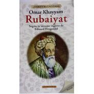 Libro.  Rubaiyat. Omar Khayyam. Clasicos Fontana.