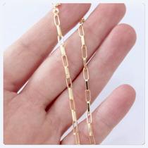 Cordão Masculino De 70 Cm Elos Longos Corrente De Ouro 18k