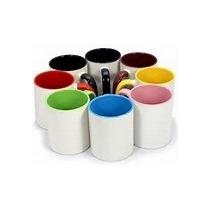 24 Canecas Color + 12 Canecas Brancas Para Sublimação