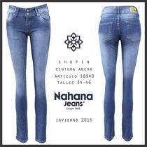 Jeans Elastizado Chupin Marca Nahana Talle 44/46