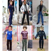 Roupa Fashion Para Boneco Ken ( Barbie ) + Sapatos + Brinde