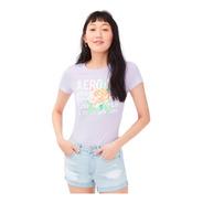 Camiseta Feminina Aero Ny Rose Lilás Original Orlando