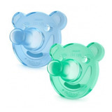 Soothies Pacifier Chupo Avent Oso 0-3 Meses - Verde Y Azul