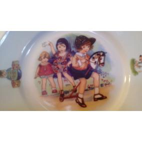 antiguo plato decotavio aleman infantil