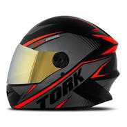 Capacete Pro Tork R8 Viseira Iridium Dourada