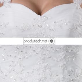 Vestido De Noiva Semi Sereia - Temos Plus Size
