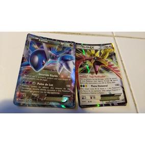 Carta Pokémon Latios Ex E Ho-oh Ex Mais 39 Cartas Diversas.