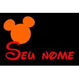 Tapete Capacho Disney Mickey - Personalizado Com Seu Nome