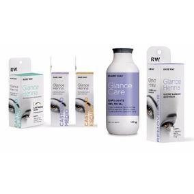 Kit Glance - 3 Hennas + Esfoliante + Removedor - Rare Way