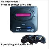 Sega Mega Drive 2 Md 16 Bit Video Game Console De Configuraç