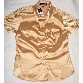 Blusa Camisa Dorada Ropa Para Damas Original***