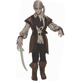 Disfraz De Pirata Zombie Para Hombre Recuerdos Cotillon Y Fiestas - Maquillaje-zombie-hombre