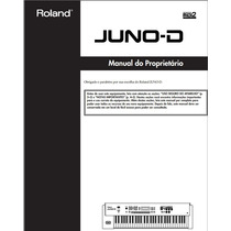 Manual Em Português Do Teclado Roland Juno D