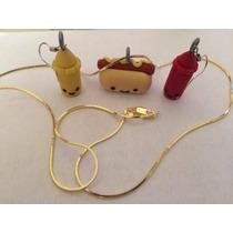 Collar De Oro O Plata Hotdog Aretes De Ketchup Envio Gratis