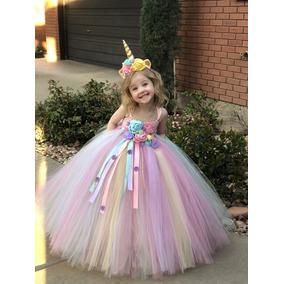 Vestido Outfit De Unicornio Tutu Dress Unicorn De Cumpleaños