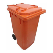 Lixeira Grande 240l - Coletor Lixo Com Rodas