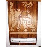 Carteles Madera Relieve P/ Llaves Frida, Mandala, Elefante