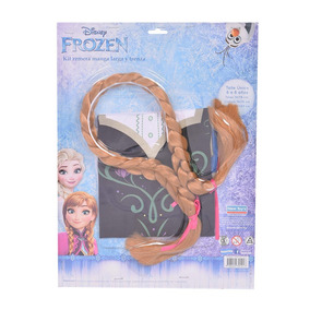 Kit Remera Manga Larga + Trenza Anna Frozen