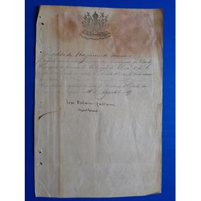 Certificado De Medalha Villa De Uruguayana 16 Agosto 1869