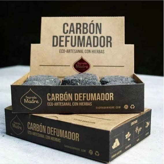 Carbón Defumador Eco-artesanal Con Hierbas Sagrada Madre