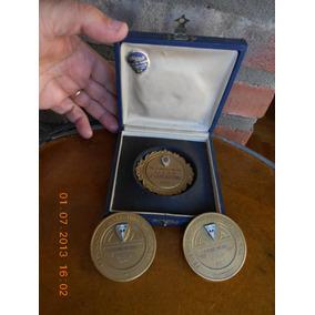 Antiguas Medallas Con Escudo De La Feder. Arg. De Bochas