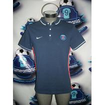 Jersey Tipo Polo Original Paris Sain Germain Azul Nike 15-16