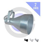 Spot Trilho Perfilado Lâmpada E27 Par30 Direcionável 2 Unid.