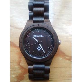 Reloj Hombre/mujer En Madera Color Ébano, Casual Y Exclusivo