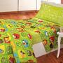 Colchon + Juego De Sabanas Angry Birds Verde 1 ½ Plaza